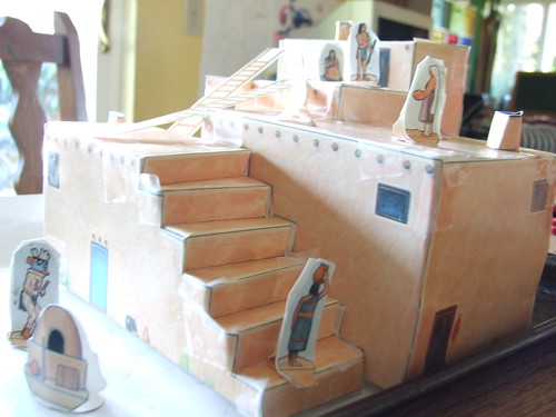 The curriculum of love a bit of our homeschooling for How to build a model pueblo house