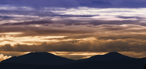 sunset mountains clouds newhampshire whitemountains nh jefferson