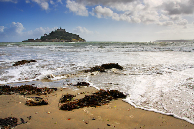 St Michael's Mount in Cornwall by Flickr user philthomas