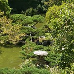 Reflecting pools in Japanese Garden at Huntington Gardens Pasadena California
