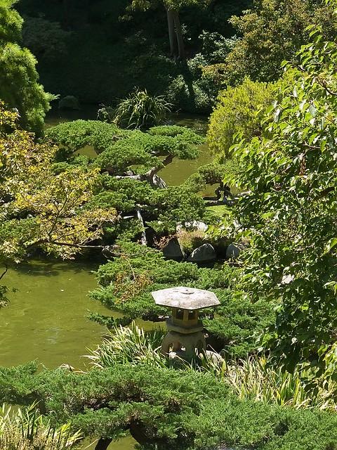 Reflecting Pools In Japanese Garden At Huntington Gardens