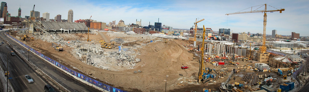 A look at what's left of the Metrodome
