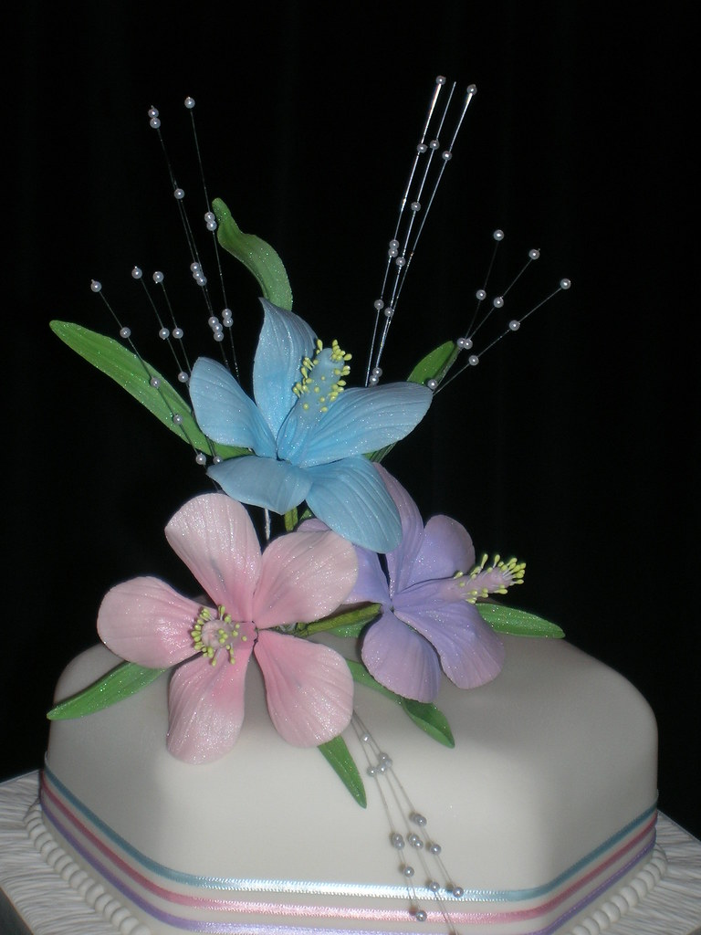 Hibiscus Flower Wedding Cake 17 Yvonne Harris Flickr