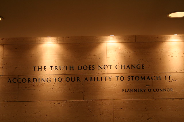 Flannery O'Connor quote from Flickr via Wylio