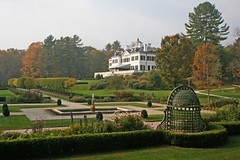 The Mount from the flower garden in fall by David Dashiell.jpg