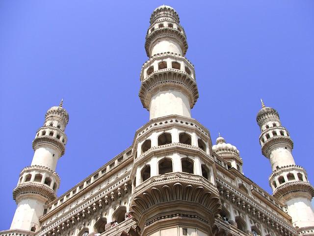Charminar de Hyderabad. Estado de Andhra Pradesh, India