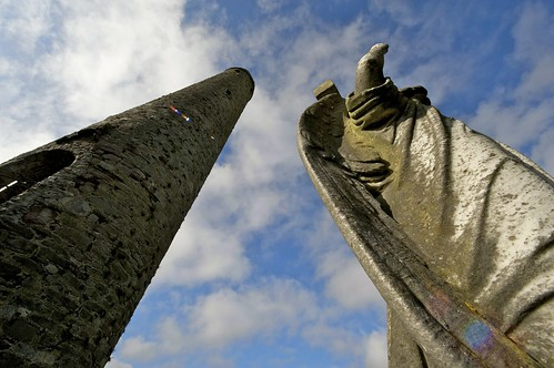Wings of an Angel, Round Tower, Kildare, Ireland