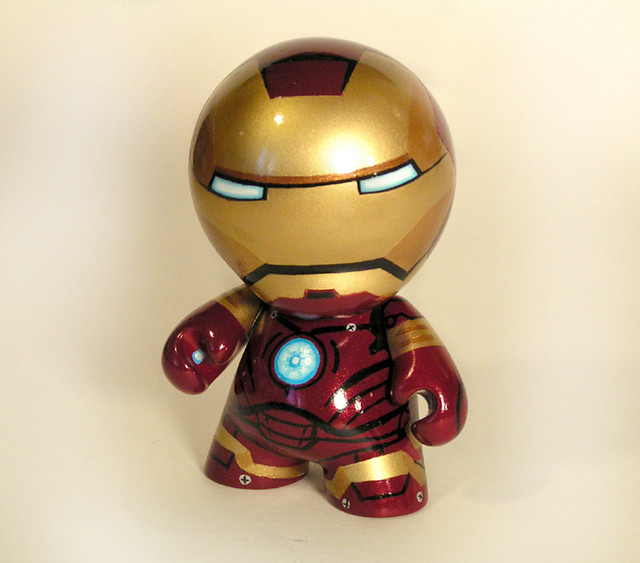 Super hero munny art toys a gallery on flickr - Mini iron man ...