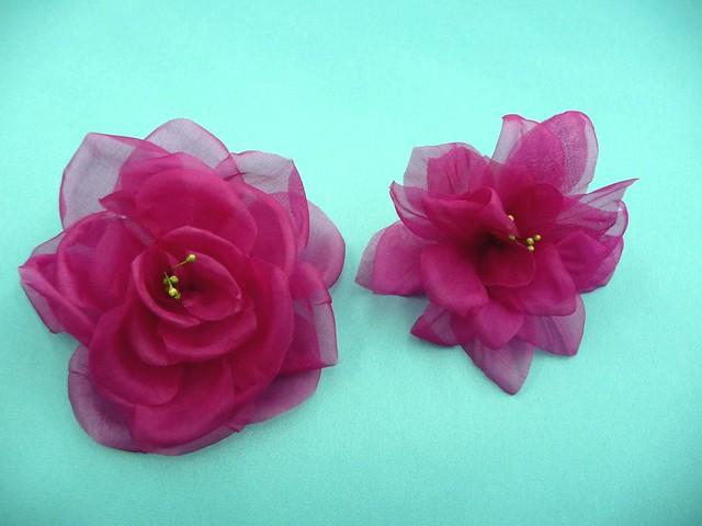 Mparr000345 flores y tocados de tela hechos a mano bis 025 - Cosas hechas a mano para vender ...