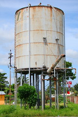storage tank, water tower, tower,