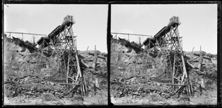 Elevator at mine, Round Hill, Southland, February 1900