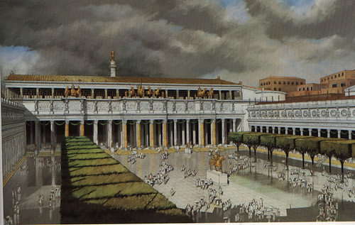 Roma - I Fori Imperiali (1995-2008). The Forum of Trajan. Excavations & Related studies (1998-2008). Prof. James. E. Packer, The Forum of Trajan in Rome: a study of the Monuments (Vol. I), 1997. FRONTPIECE. Restored perspective: view of the Forum.