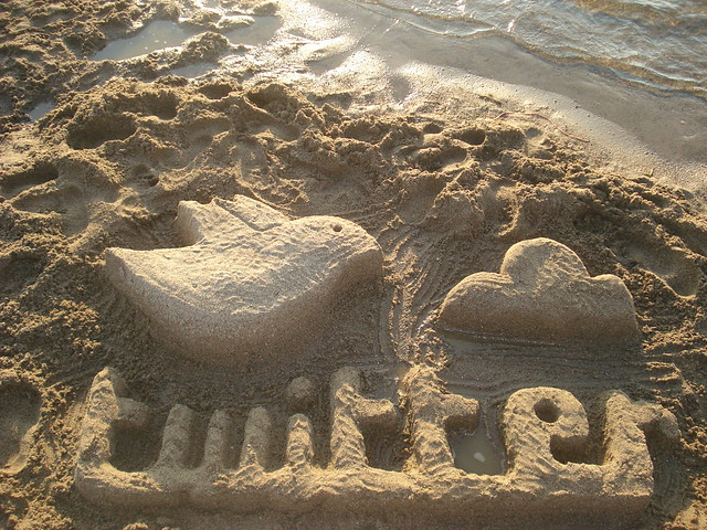 Twitter beach