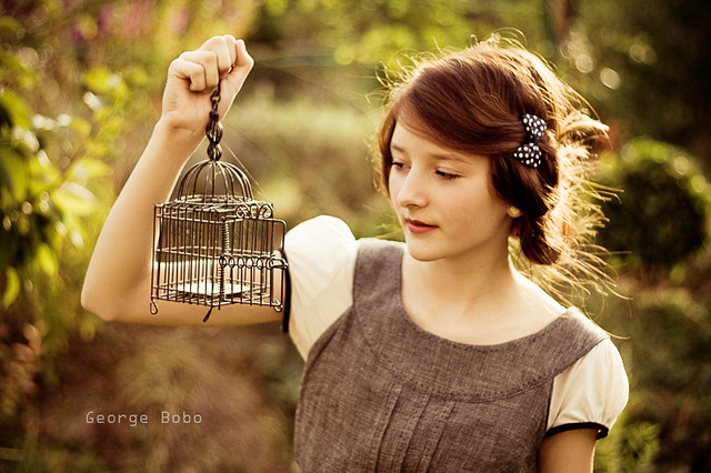 Girl with pigeon-hole