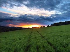Rectory Hill sunset, Amersham, Buckinghamshire, UK