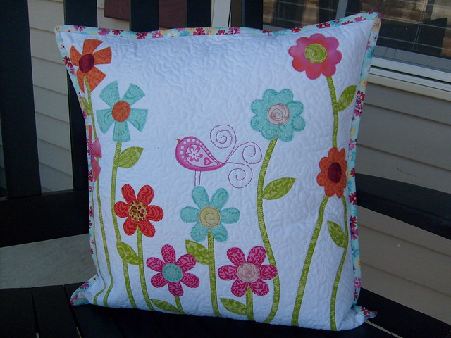 Bird Pillow finished front