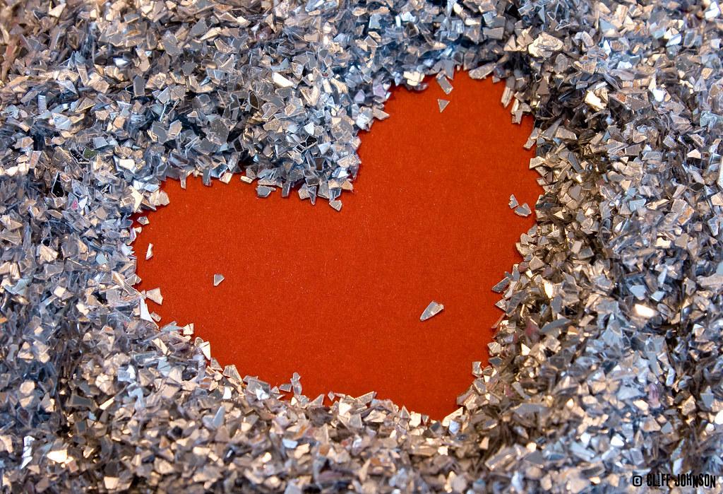 21/365 Glitter Heart