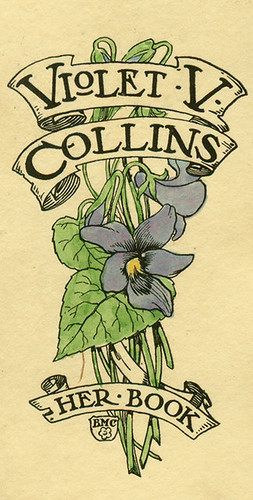 [Bookplate of Violet V. Collins]