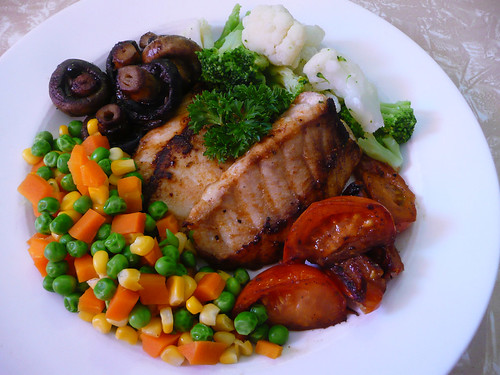 Food recipes march 2010 for Fish and veggie diet