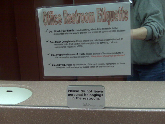 Public Bathroom Etiquette Signs Just B CAUSE