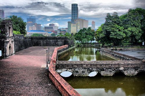 Moat outside Fort Santiago
