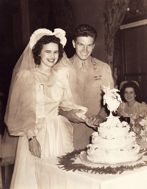 1940s wedding couple flickr photo sharing for Free wedding dresses for military brides