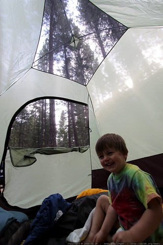 happily waking up in yosemite valley