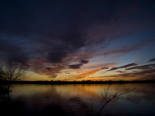 blue sunset sky orange lake clouds texas olympus greenvilletexas e410 gtowneric