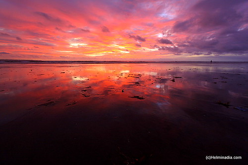 pink sea sky bali reflection art beach nature colors beautiful clouds indonesia view horizon lovely kuta gado2 colorphotoaward goldstaraward abeautifulplanet wonderfulpresentfromgod