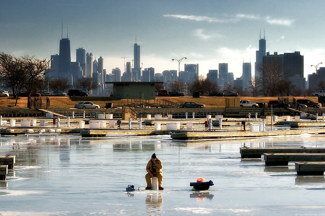 Chicago ice fishing flickr photo sharing for Fishing in chicago