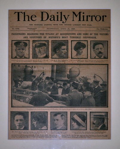 Titanic report, The Daily Mirror, 17 April 1912