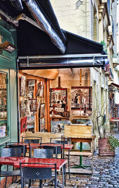 parisian art shop location montmartre paris camera niko by shorouq flickr photo. Black Bedroom Furniture Sets. Home Design Ideas