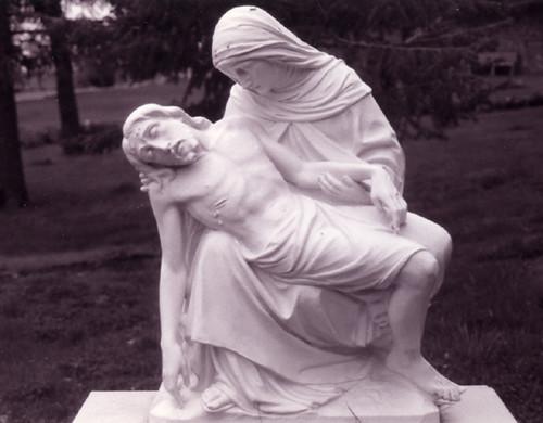 Carl Biber & Immengard M. Hack: St. Gertrude Monastery Statues (sculpture #6), 1934