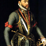 King Phillip II of Spain, grandson of Juana of Castile, Great-Nephew of Catherine of Aragon,Husband of Queen Mary I