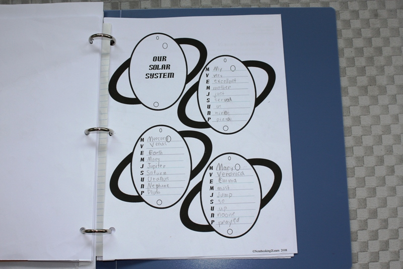 solar system notebooking - photo #23