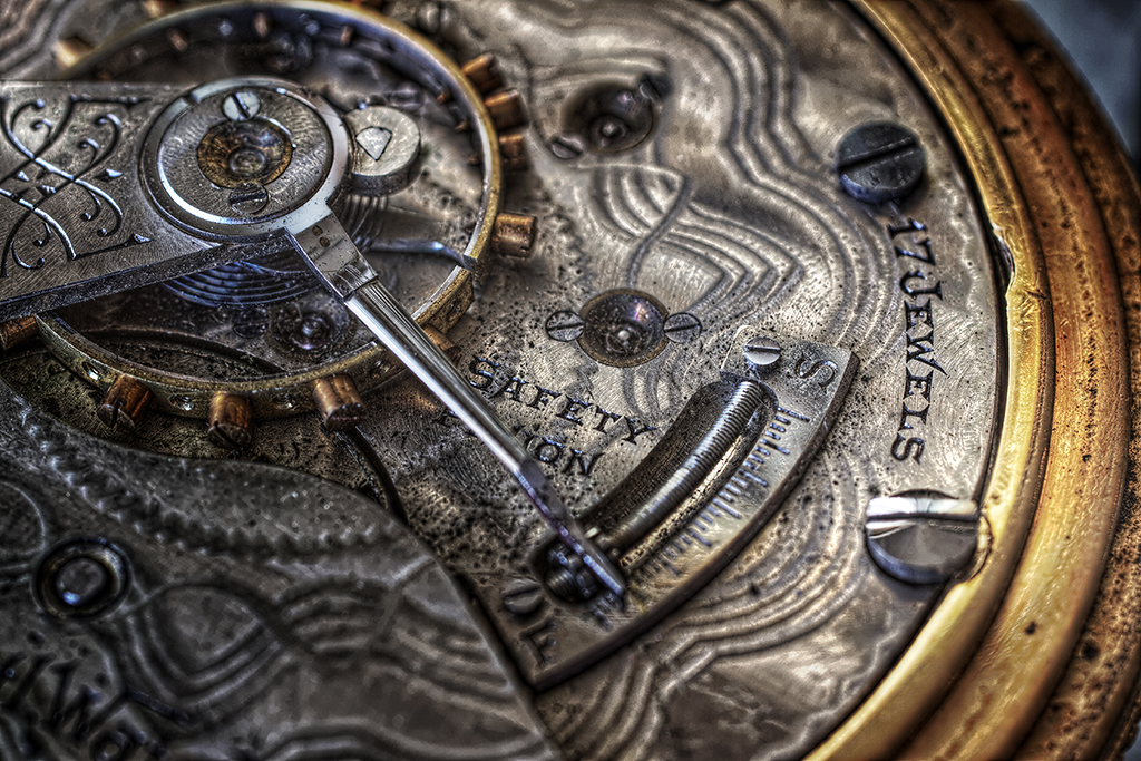 Antique Watch Macro in HDR