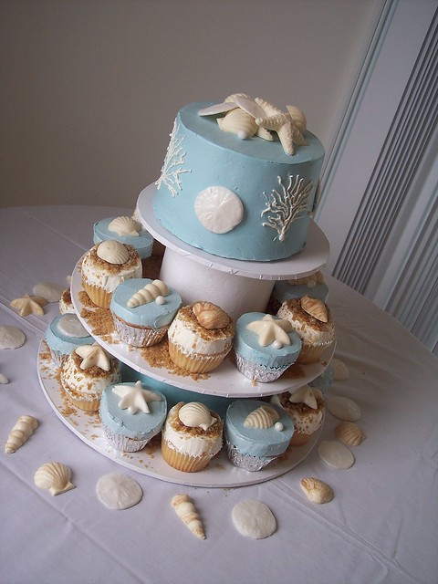 beach wedding cupcake towers wilmington nc carolina cakes