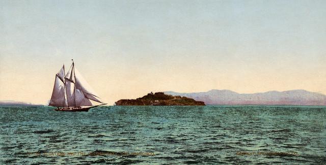 Alcatraz and the Golden Gate, San Francisco Bay, California, ca. 1900