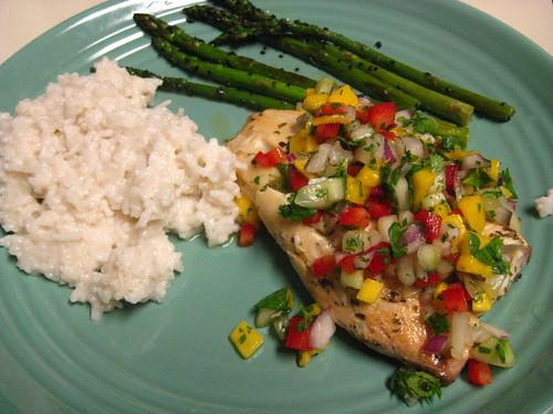 Tilapia, Fish, Seafood, Recipes, menu, Grilled Fish Fillet, Mango Salsa, FX777, FX777222999, Tasty