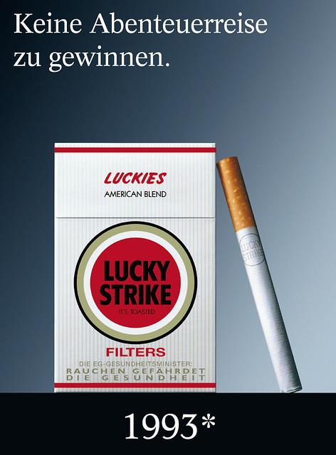 20 jahre lucky strike werbung - 100 plakat-motive