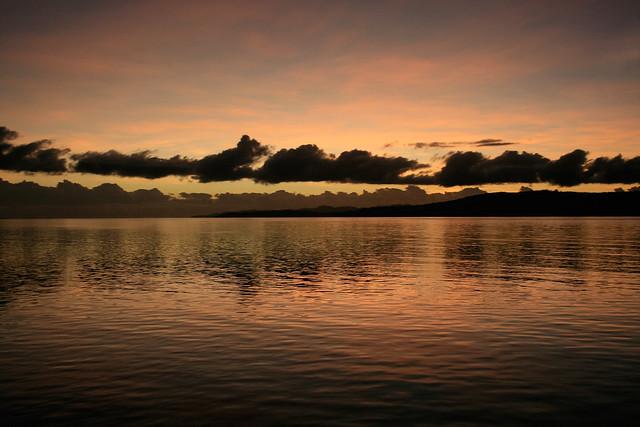 Sunset in Raja Ampat.