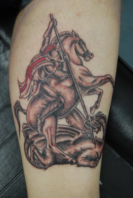 st george and dragon tattoo | Flickr - Photo Sharing!