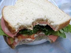 blt, sandwich, meal, lunch, breakfast, ham and cheese sandwich, muffuletta, ciabatta, food, dish, cuisine,