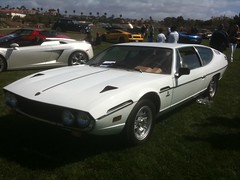 race car, automobile, vehicle, lamborghini espada, performance car, classic car, land vehicle, coupã©, sports car,