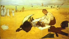 Degas, Edgar (1834-1917) - 1876 At the Beach (National Gallery, London)