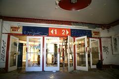 The lobby in the Coronet Cinema