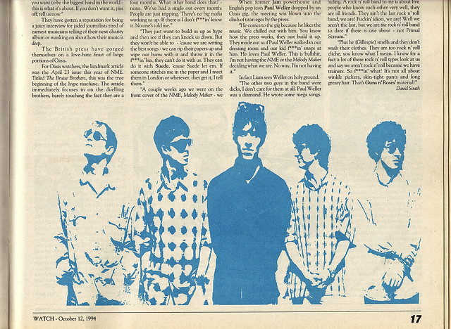 Oasis Feature 4: Legendary 1994 Interview