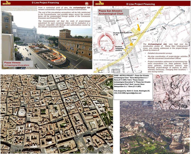 ROME - METRO 'D' SUBWAY PROJECT: PIAZZA SAN SILVESTRO - ARCHAEOLOGICAL PHASE (FUTURE).