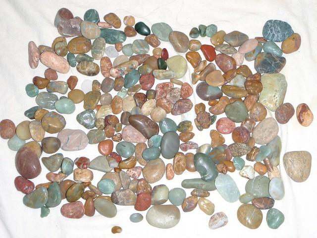 A sampling of jasper and agate
