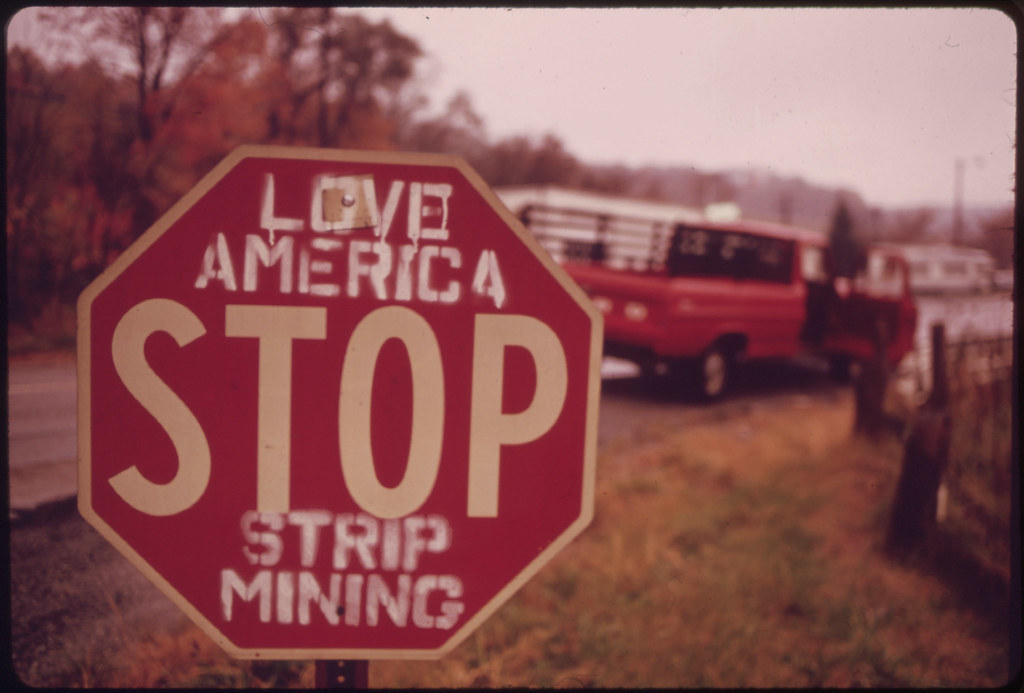There Is Some Local Opposition to Stripping the Land in Southeastern Ohio. Most People, However, Are Employed by the Coal Companies and Are Afraid Any Demands for Reform Will Cost Them Their Jobs. Off Route 800. 10/1973